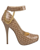 LONNIE Snakeprint Hidden Platform Pump in Sand Taupe | FLYJANE | Fashion Pumps under $50 | Snake Print Pumps | Taupe Tan Pumps | Michael Antonio Pumps | Michael Antonio Shoes | Sexy Shoes at FLYJANE