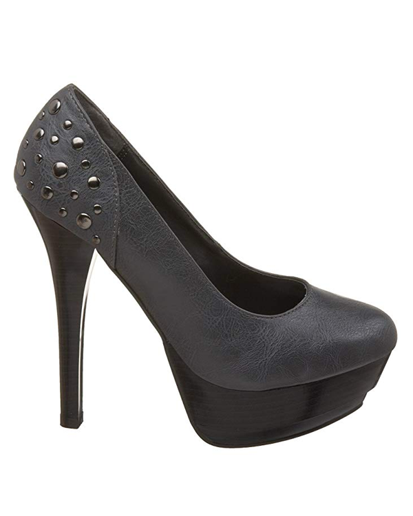 Michael Antonio LEANNE Platform Pump in Grey | FLYJANE | Grey Platform Pump in Grey | Fashion Pumps under $50 | Michael Antonio Heels at ShopFlyJane.com