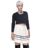PRETTY PLEATS Flare Skirt at FLYJANE