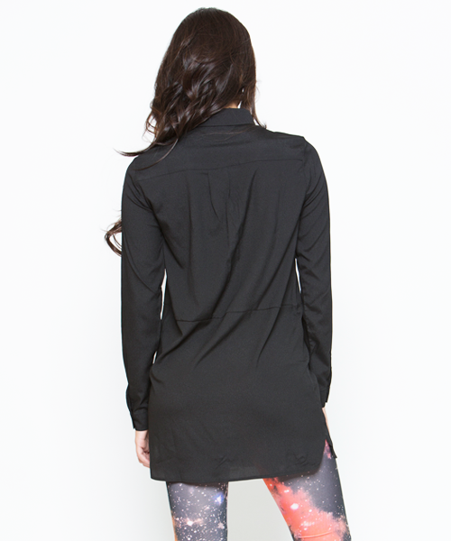 LOVE TRIANGLE BLOUSE - BLACK