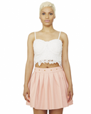 SUGARPLUM Studded Skater Skirt in Pale Pink at FLYJANE