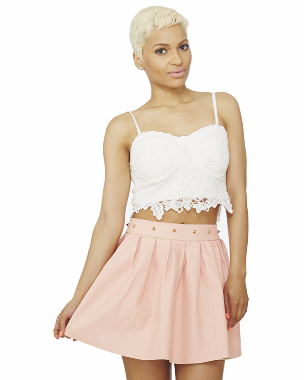 SUGARPLUM STUDDED SKATER SKIRT