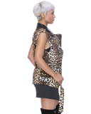 Endless Rose FELINE WAYS Leopard Moto Vest at FLYJANE