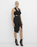 SHIA LEBABE ASYMMETRICAL SKIRT - BLACK