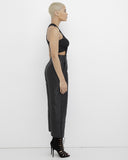 THE JETSETTER SATIN WIDE LEG PANT - BLACK