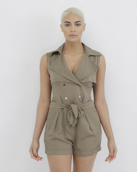 ARTILLERY OVERLOAD Cargo Romper in Olive at FLYJANE | Cargo Inspired Shorts Romper | Cargo hard Romper | Olive Romper Cute Spring Look | Follow us on Instagram