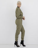 SPECIAL FORCES Cargo Jumpsuit in Olive at FLYJANE | Olive Green Airforce Airmen One Piece Cargo Jumpsuit under $100 | Rihanna Kylie Jenner Jumpsuit