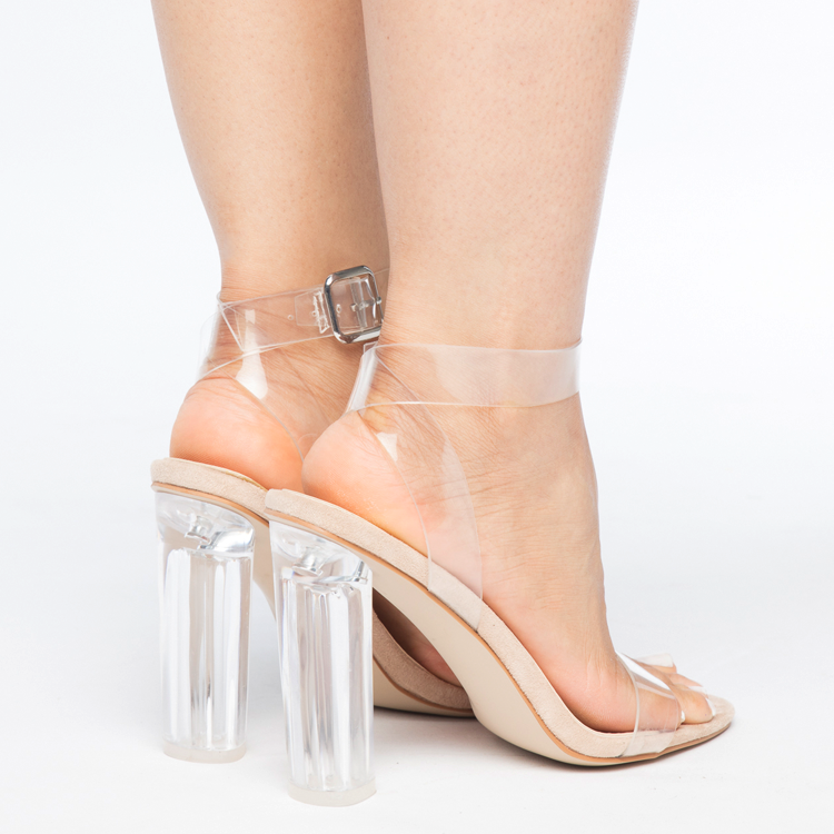 cfb9dd06a45b ... MATAI Perspex Clear Heel Sandals with Lucite Heel at FLYJANE
