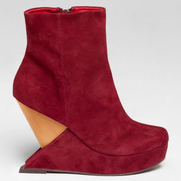 Jeffrey Campbell MEEKER in Wine Suede at FLYJANE