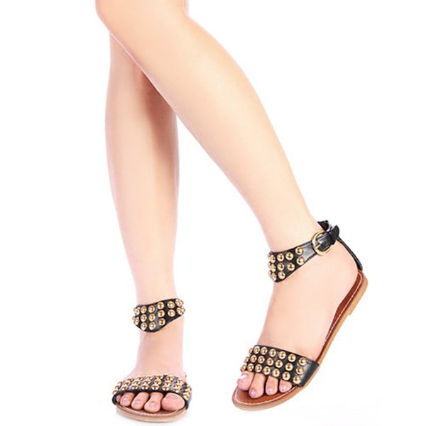 MODI Studded Sandals in Black at FLYJANE | Cute Thong Sandals | Black Studded Sandals | Black Sandals | Open Toe Sandals | Cute Sandals under $25 | Shop FLYJANE on Instagram