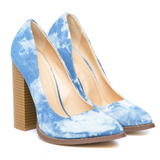 THE DONNA PUMP - DENIM