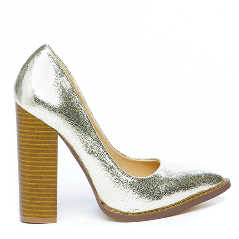 THE DONNA PUMP - GOLD
