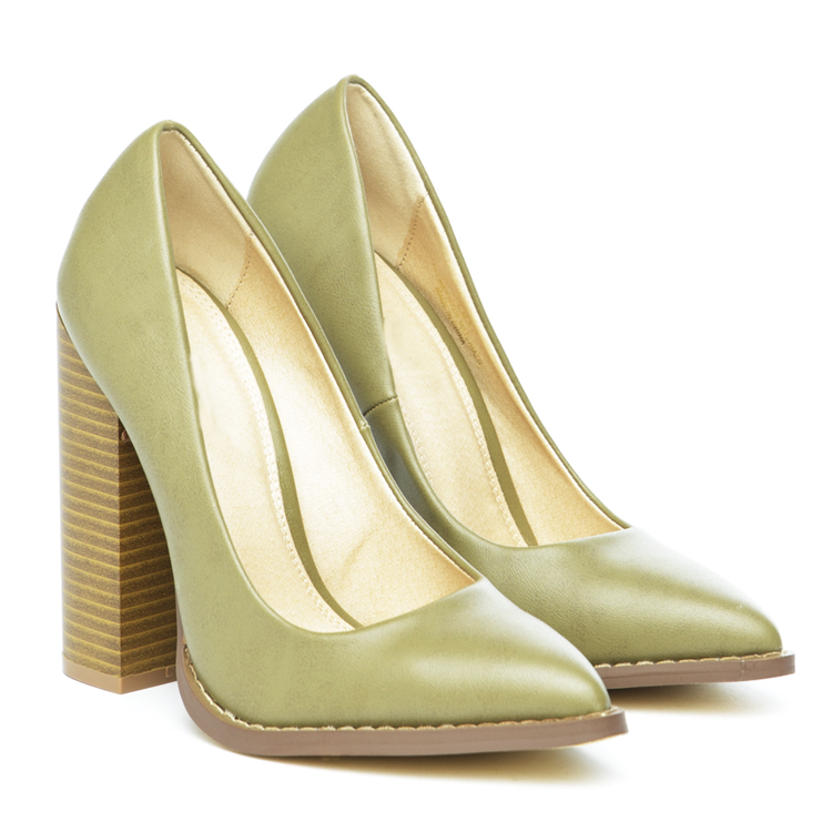 THE DONNA PUMP - OLIVE