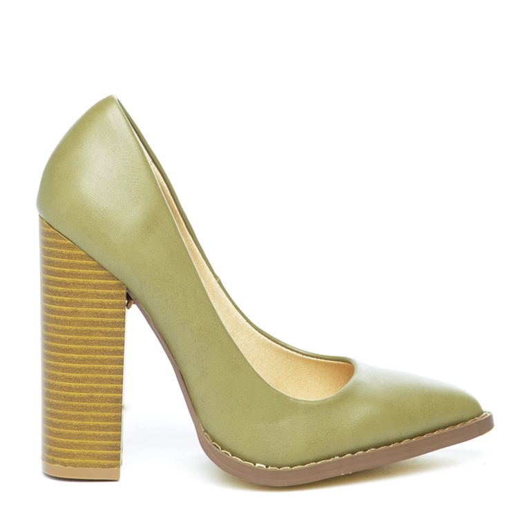 THE DONNA Pump in Olive at FLYJANE | Olive Heels | Olive Green Pumps |