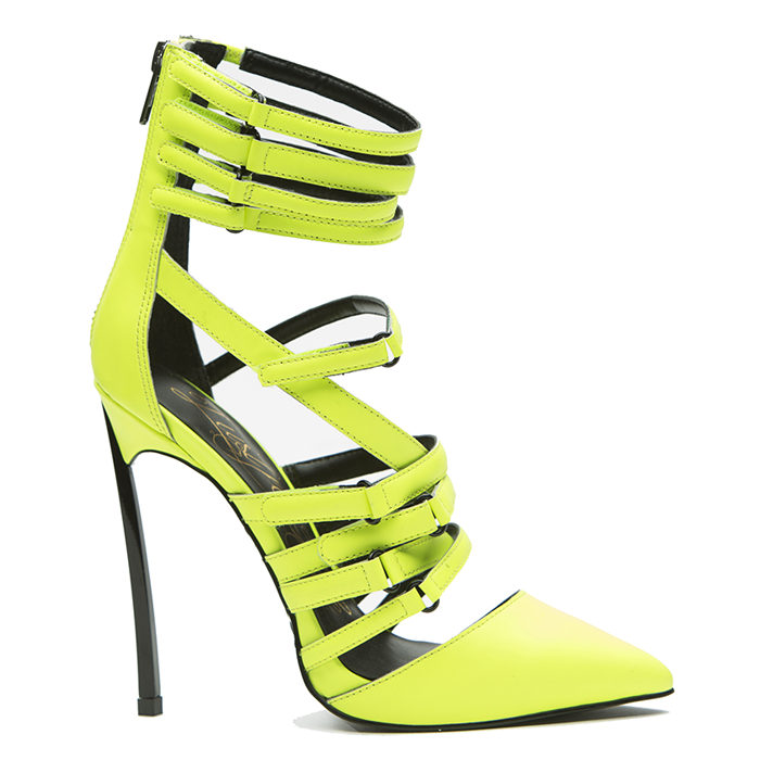 Lust for Life KROWN Pump in Citron Neon at FLYJANE