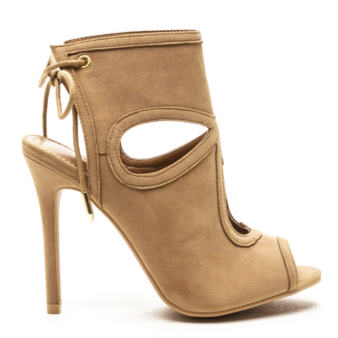 GRETCHEN Tear Drop Booties in Nude at FLYJANE | Designer Tear Drop Bootie | Nude Booties under $50 | Shoe Republic LA | Cute Designer Shoes under $50