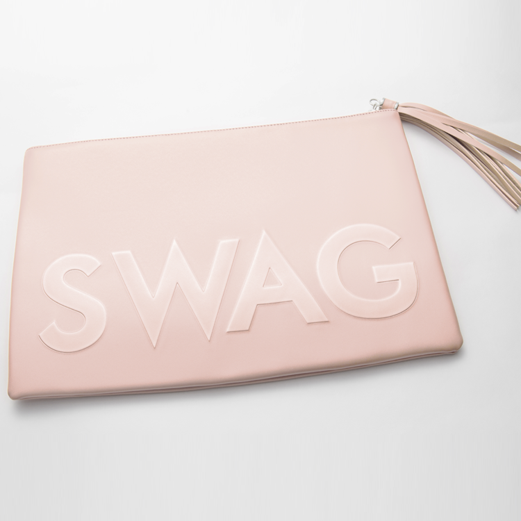 I GOT HOT SAUCE IN MY BAG SWAG! Oversized Clutch Bag in Nude Leather | FLYJANE | Swag Bag in Nude | Nude Oversized Embossed Clutch Bag | Cute Embossed Clutch