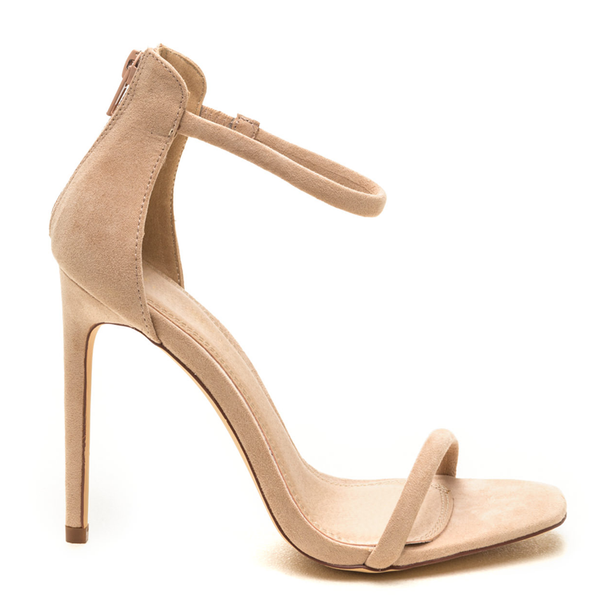 RHONDA Classic One Strap Sandal in Nude Suede | FLYJANE | Simple One Strap Sandal | Nude Suede One Strap Open Toe Sandal | Follow us on Instagram @FlyJane