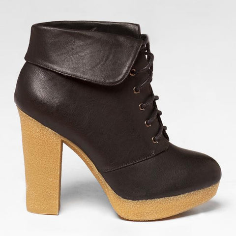 Qupid ODITI-06 Ankle Boot in Black at FLYJANE