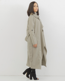 LENORA Oversized Trench Coat in Olive Green at FLYJANE | Olive Green Maxi Car Coat | Stylish Trench Coat | Oversized Trench Coat