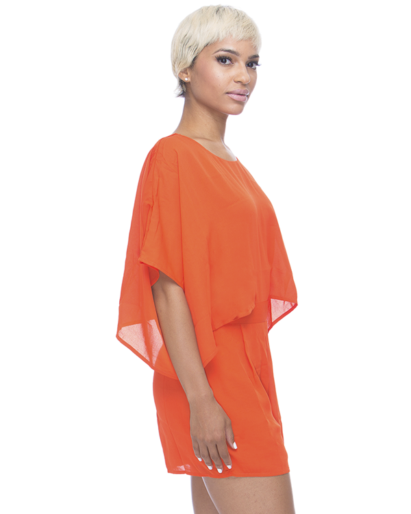 MELANIE Romper in Orange at FLYJANE