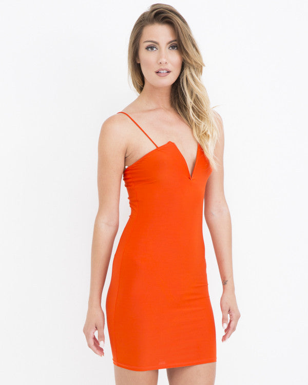ORANGE IS THE NEW BODYCON DRESS