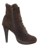 OZZY Bootie in Brown at FLYJANE | Faux Suede Lace Up Bootie in Brown Tan | Cute Granny Booties at ShopFlyJane.com