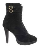 OZZY Bootie in Black at FLYJANE | Faux Suede Lace Up Bootie in Black | Cute Granny Booties at ShopFlyJane.com