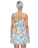 PARADISE DREAMER Skater Skirt and Bustier Set at FLYJANE