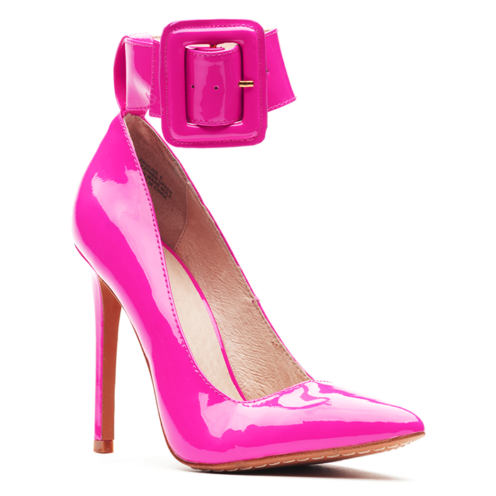 ZigiNY PAULINE Patent Pump in Hot Pink at FLYJANE