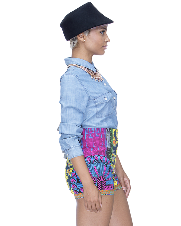 TWISTED FANTASY High Waist Shorts at FLYJANE