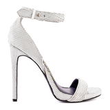 London Trash PHOENIX Sandal in White Snake at ShopFlyJane.com