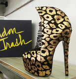 London Trash CRIME Platform Bootie - Cheetah