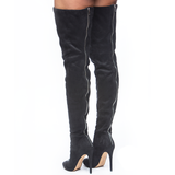 Zigi Girl PIARRY Thigh High Boot in Black Suede at FLYJANE