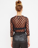 UNDERCOVER LOVER Sheer Crop Top at FLYJANE