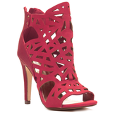 PERPLEXED Cutout Bootie in Red at FLYJANE  ( Paprika PREFIX Cutout Bootie)