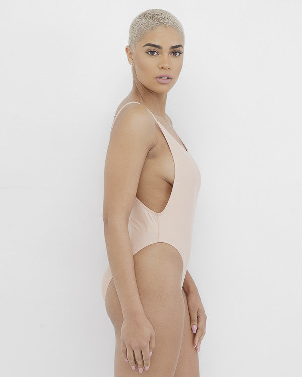 ONE DANCE One Piece Swimsuit in Nude at FLYJANE | Sexy Nude One Piece Bodysuit | Nude Beige Swimsuit | One Piece Swimsuit | private Party BaeWatch