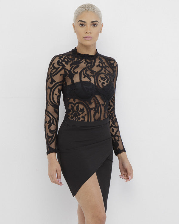 HILLARY Ruched Wrap Skirt in Black at FLYJANE | Cute Spring Wrap Skirts | Lace Bodysuits | Follow FLYJANE on Instagram at @FlyJane | Black Skirts