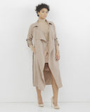 OLORA Oversized Trench Coat in Blush Pink at FLYJANE | Blush Pink Maxi Car Coat | Stylish Trench Coat