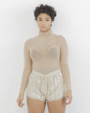 BODY PARTY Sequin Shorts in Taupe at FLYJANE