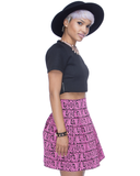 SWEET ESCAPADES Brocade Flared Bandage Skirt at FLYJANE