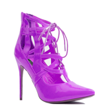 Penny Sue IBIZA Patent Bootie in Purple at FLYJANE