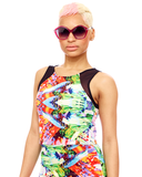Blurred Bloom Crop Top available at FLYJANE