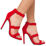 LE CHIC WAVY SANDAL - RED