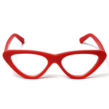 TWIGGY Cat Eye Retro Clear Frames in Red at FLYJANE