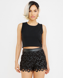 Endless Rose | THE RINGER Faux Leather Shorts at FLYJANE