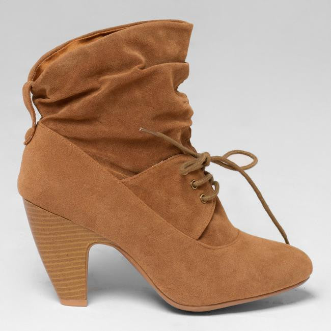 SATCHEL ANKLE BOOT - CAMEL