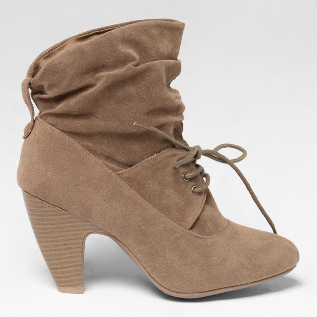 SATCHEL ANKLE BOOT - TAUPE