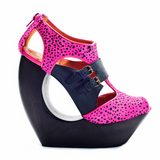 Jeffrey Campbell ROCK ME in Pink Cheetah & Black at shopFLYJANE.com