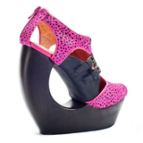 Campbell ROCK ME Wedge in Black/Pink Cheetah at shopFLYJANE.com